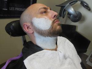 Barbier mousse blaireau coulonges