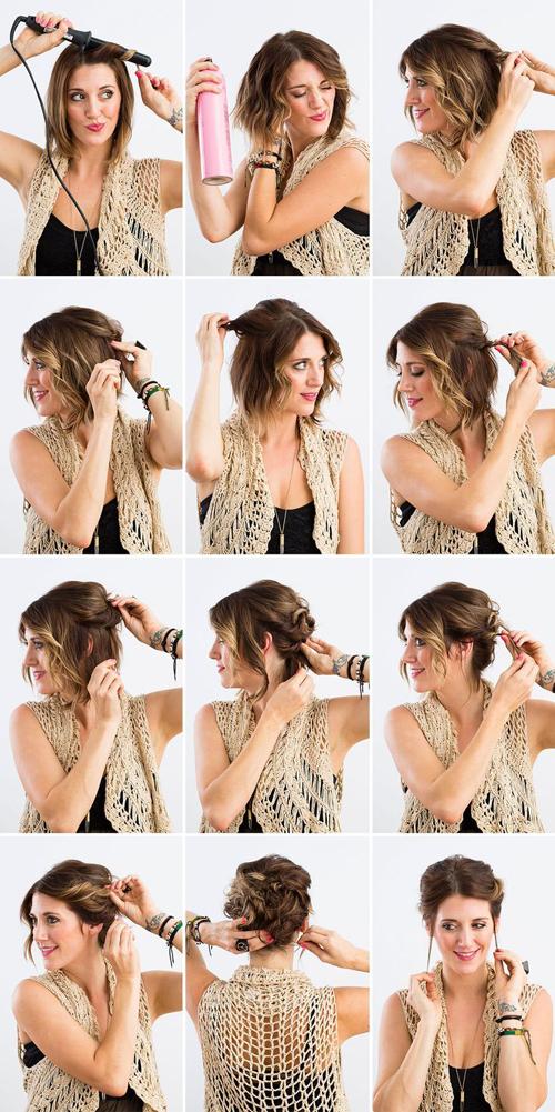 Coiffez vos cheveux courts