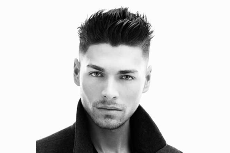 coiffure homme court gel