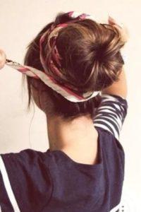 Bun foulard