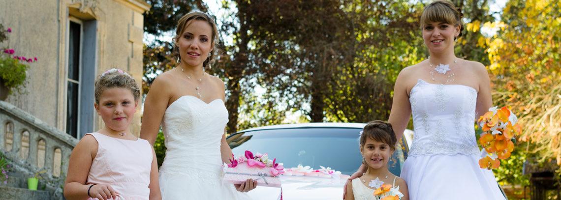 Coiffure de mariage et chignon