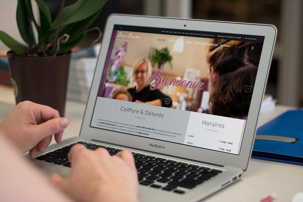 Site web de Douce Evasion, coiffeur en Vendée